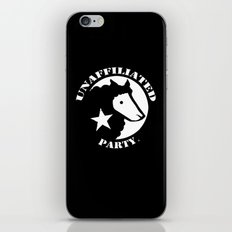UNAFFILIATED PARTY STENCIL iPhone & iPod Skin
