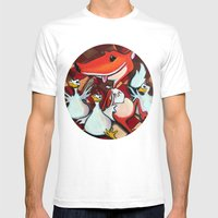 YUM Mens Fitted Tee White SMALL