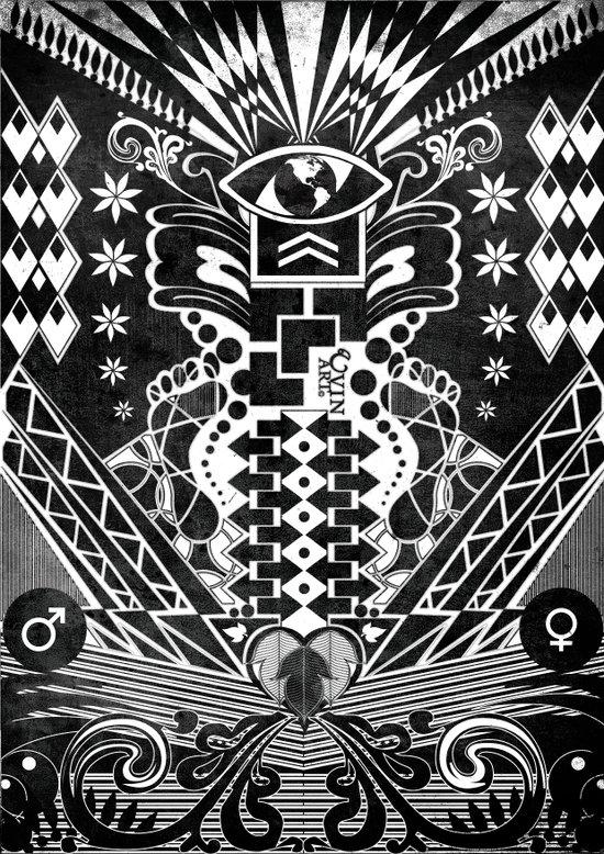 Insane Black & White Art Print