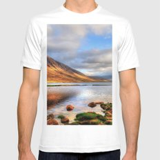 Loch Etive Mens Fitted Tee SMALL White