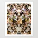 Cat Kaleidoscope Art Print