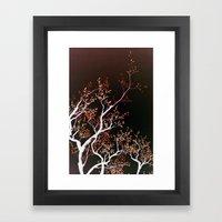 inverse tree Framed Art Print