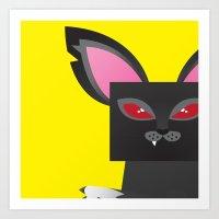 Deadly Kitty Art Print