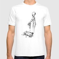 _human error Mens Fitted Tee White SMALL