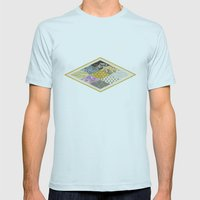 RHOMB SOUP / PATTERN SERIES 002 Mens Fitted Tee Light Blue SMALL