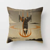 Throw Pillow featuring The Return by The Art Of Danny Haa…