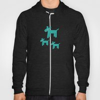 Dogs-Teal Hoody