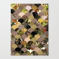 Canvas Print featuring Autumn Scalloped Pattern by Elephant Trunk Studio
