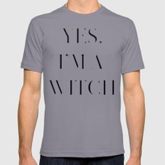Yes, I'm a Witch Mens Fitted Tee Slate SMALL