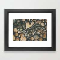 Heart Shaped Wood Framed Art Print