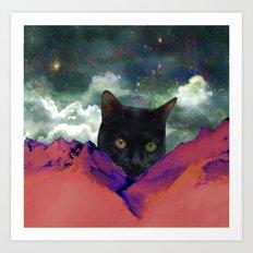 Meow Mountain Art Print