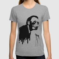 SalvaDog Dalí Womens Fitted Tee Athletic Grey SMALL