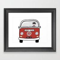 Sofi's VW Van Framed Art Print