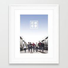 BTS + I need u Framed Art Print