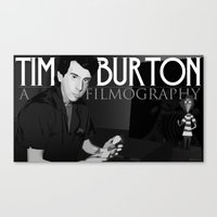 Canvas Print featuring Tim Burton Young by Martin Woutisseth