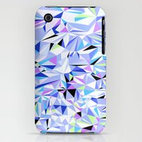 iPhone 3Gs & iPhone 3G Cases featuring Periwinkle Polygons by Jenny Mhairi