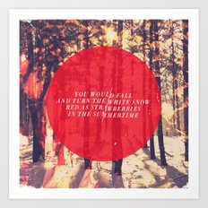 Fleet Foxes - White Winter Hymnal Art Print