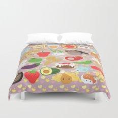 Cute food Duvet Cover