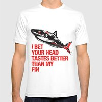 Your Head Tastes Better Mens Fitted Tee White SMALL