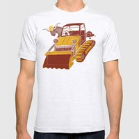 Bulldozin'  Mens Fitted Tee Ash Grey SMALL