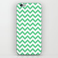 Funky Chevron Mint Patte… iPhone & iPod Skin
