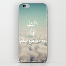 Let's Go Anywhere iPhone & iPod Skin