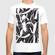 Snowy Forest II Mens Fitted Tee SMALL White