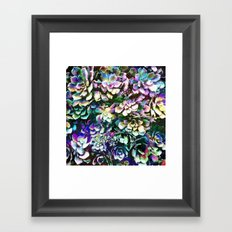 Colorful Abstract Plants Framed Art Print