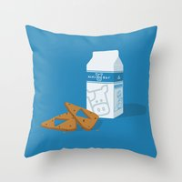 Milk & Triforce Cookies Throw Pillow