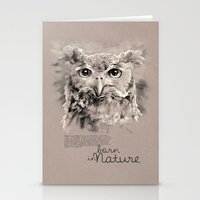 Owl (BornInNature) Stationery Cards