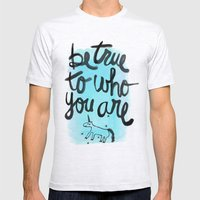 Be True Mens Fitted Tee Ash Grey SMALL