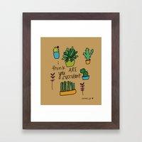 Plant Love. Framed Art Print