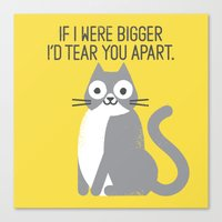 Purrfectly Honest Canvas Print