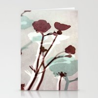 Abstract Florals  ~ Colo… Stationery Cards