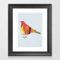 The Flying Spirit Framed Art Print