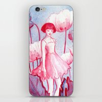 Pink Poppy iPhone & iPod Skin