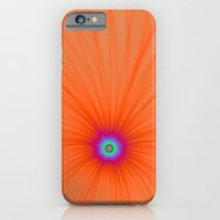 iPhone & iPod Case featuring Tangerine Color Explosion by Objowl