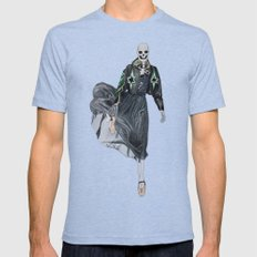 leather & ballet skeleton Mens Fitted Tee Tri-Blue SMALL