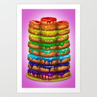 Donuts I 'Sweet Rainbow' Art Print