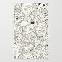Faces of Math (no color edition)  Rug