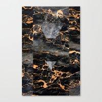 Molten Stone Canvas Print