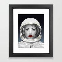 Space Lady Framed Art Print