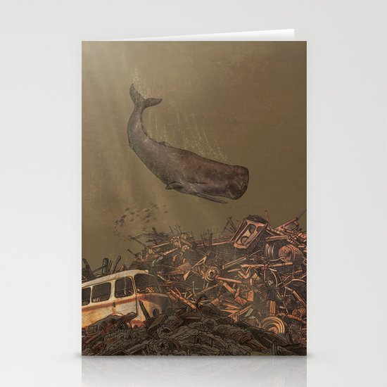 The Last Whale  Stationery Card