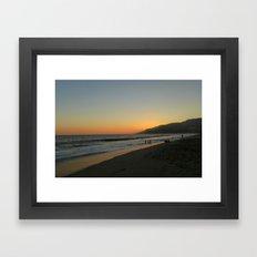 LA Sunset Framed Art Print