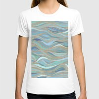 Wave lines 1 Womens Fitted Tee White SMALL
