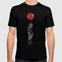 Balloon Astronaut Mens Fitted Tee Black SMALL