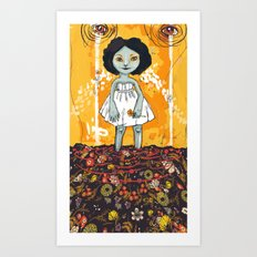 Yellow Flower Room Art Print