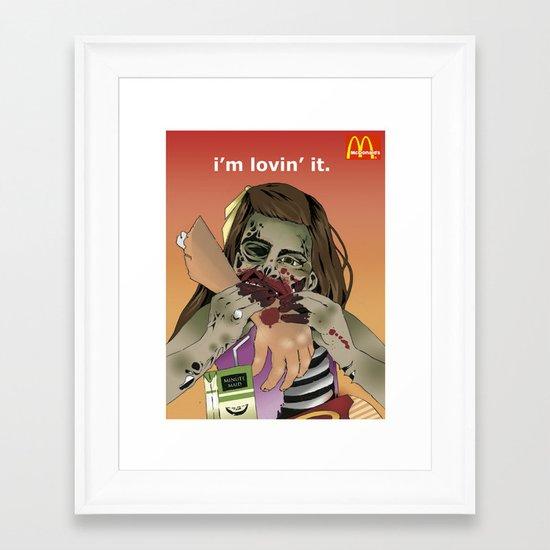I'm Lovin' It. Framed Art Print