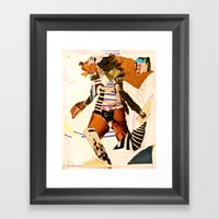 Runnin Framed Art Print