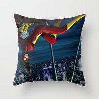 SpiderWoman Throw Pillow